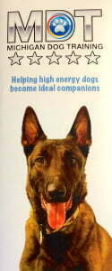 Michigan Dog Training brochure