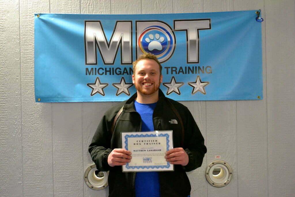 Michigan Dog Training, Certified Dog Trainer, Matthew Lamarand, Plymouth, Michigan